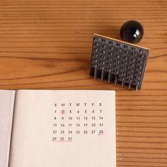 【水縞】ハンコ 万年カレンダー - nombre