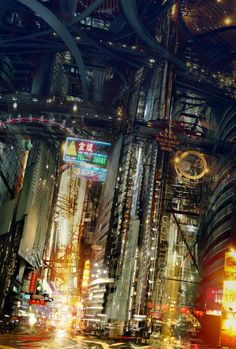 45 Ideas Concept Art Future City Blade Runner For 2019 Cyberpunk City, Ville Cyberpunk, Cyberpunk Kunst, Futuristic City, Fantasy Anime, Sci Fi Fantasy, Blade Runner, Rpg Star Wars, Foto Picture
