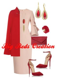 First Sunday by bigreds on Polyvore featuring polyvore, fashion, style, Roksanda, Gucci, Christian Louboutin, L.K.Bennett, Anne Klein, Chanel, Kendra Scott and clothing