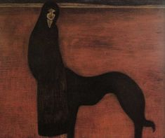 Young Woman and Dog,  by Léon Spilliaert (1881-1946)