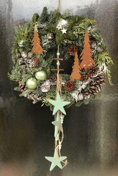 """Weihnachtsdeko - Türkranz """"Waldweihnacht"""" - ein Designerstück von Decorama bei DaWanda"""