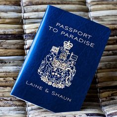 Deposit - Passport Invitation or Save the Date (Canadian Traditional Emblem). $50.00, via Etsy.