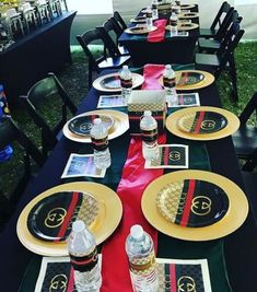Gucci Inspired Black and Tan Custom Plates Cups or Napkins Baby Birthday Themes, 50th Birthday Party, Birthday Party Decorations, Teen Birthday, Gucci Cake, Personalized Plates, Custom Plates, Sweet 16 Parties, Dinner Plates