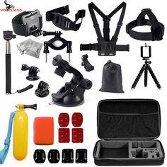 YOOCUANG For GoPro Go Pro Accessories Set for Gopro Hero 4 3+ 3 2 Sjcam SJ4000 SJ5000  Xiaomi Yi Wifi Action Camera set Y26 #Affiliate