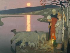 Frederick Cayley Robinson - Pastoral, Oil paint on canvas Tate Gallery, London, UK Art And Illustration, Nausicaa, Robert Duncan, Jack Vettriano, Sea Pictures, Art Chinois, Georges Seurat, Tate Gallery, Art Japonais