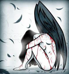 how to draw a sad angel - Zeichnung Angel Sketch, Angel Drawing, Fall Drawings, Cartoon Drawings, Cartoon Art, Drawing Poses, Drawing Sketches, Drawing Guide, Drawing Art