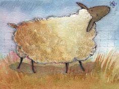 Deb's Art Blog: More Sheep