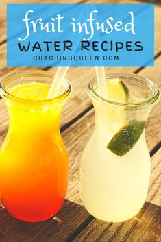 Fruit Water Recipes, Flavored Water Recipes, Fruit Infused Water, Infused Waters, Summer Drinks, Fun Drinks, Beverages, Fun Recipes, Health Recipes