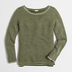 J.Crew Factory - Factory chevron-stitch boatneck sweater
