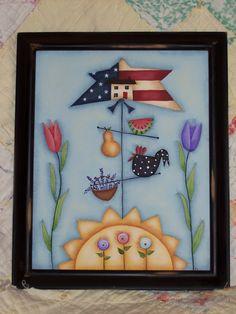 Cute little Americana piece...pattern by Deb Antonick/PWFs