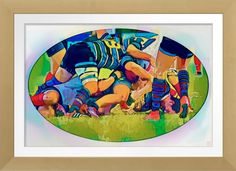 Rugby Watercolour - Archival Print. Original rugby art by Roger Smith…