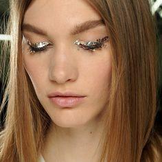 Glitter adorned lids at Chanel