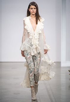 2017 spring #women's #fashion trends #sheer #ruffles #romance  http://www.thefashionspot.com/runway-news/712015-zimmermann-spring-2017-runway/