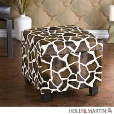 Holly and Martin Safari Storage Ottoman - Giraffe - HM-75-212-041-3-42. HM-75-212-041-3-42 - Holly and Martin Safari Storage Ottoman - Giraffe Add some flare to your home with this glamorous giraffe print foot stool. Perfect everywhere from living room to kids room, the added storage and deco.. . See More Ottoman at http://www.ourgreatshop.com/Ottoman-C672.aspx