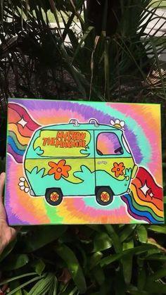 Diy Art Painting, Canvas Drawings, Psychedelic Art, Hippie Painting, Amazing Art Painting, Mini Canvas Art, Diy Canvas Art Painting, Painting Art Projects, Diy Canvas Art