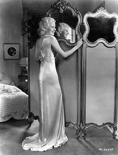 Jean Harlow in her bedroom