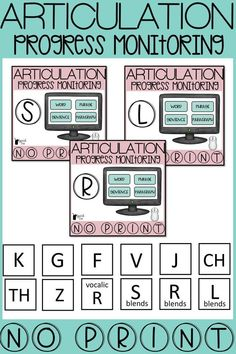 No printing necessary with these articulation progress monitoring tools! Simply click through articulation words, phrases, sentences, and paragraphs and use an editable pdf form to take data! Click for more info on this speech therapy progress monitoring