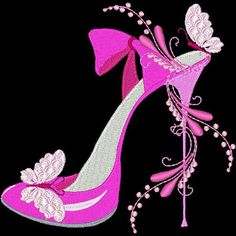FASHIONISTA SHOES -- 30 Machine Embroidery Design Pack (AzEB)