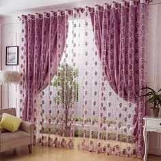 Tienda Online Special Offer 2015 Best Selling Southeast Asia Style Jacquard Screen Of Tulle Gold Embroidery Sheer Curtains For Living Room Living Room Decor Curtains, Home Curtains, Curtains With Blinds, Home Decor Bedroom, Sheer Curtains, Swag Curtains, Luxury Curtains, Modern Curtains, Colorful Curtains