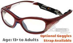 e4940be675a  13+ to Adults  Rec Specs F8 Slam Patriot XL  Shiny Crimson - 55 Size  ( Prescription Rx Lenses Available)