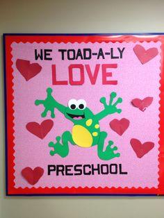 valentine bulletin board | My valentines preschool board | Bulletin Boards & Doors
