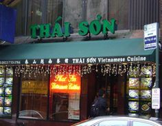 "Thai Son ""Thai Son in Chinatown has great, inexpensive Vietnamese food. I especially like the Pho Bo Kho, which is a beef stew with noodles, radishes, carrots, bean sprouts, and cilantro.  April Bloomfield (Spotted Pig, New York):  89 Baxter St (Btwn Bayard & Walker St) New York, NY 10013  Tel: (212) 732-2822"