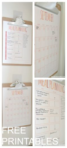 Meal Plan and Calendar Printable : Simple Command Center- Balancing Home Command Center Kitchen, Printable Calendar Template, Free Printables, Printable Planner, Kids Calendar, Family Calendar, Menu Planning, Meal Planning Calendar, Life Organization