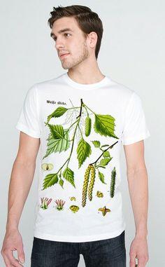 BIRCH TREE Woodland Enviroment Tshirt MENS by nonfictiontees, $17.99