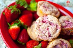 Strawberry love muffins—too cute! (made with Greek yogurt)