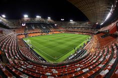 General view of Mestalla Stadium prior to the Copa de Rey semi-final second leg match between Valencia and Barcelona on February 2018 in Valencia, Spain. February 8, Valencia Spain, Semi Final, Baseball Field, Barcelona, Baseball Park