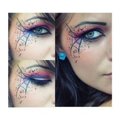Chaos | Idea Gallery | Makeup Geek ❤ liked on Polyvore featuring beauty products, makeup, eye makeup, eyes and beauty