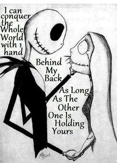 Creepy picture, but cute quote : )