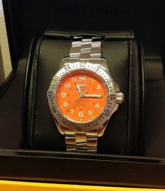 Breitling Superocean A17360 Orange Arabic Numeral Dial From 2012