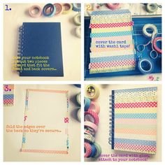 DIY washi tape notebooks!