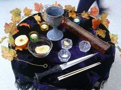 Mabon Altar by sesshys-jaded-samuri - Pinned by The Mystic's Emporium on Etsy