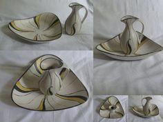 10% SALE. Keramik Krug mit Unterschale. von ideenreichBerlin