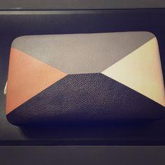 Modern clutch  Chic color block clutch Bags Clutches & Wristlets
