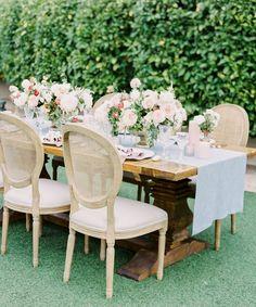 Spa Linnea Wide Runner on an elegant outdoor wood table