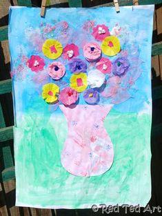Kids Crafts: Flower Collage - Red Ted Art's Blog