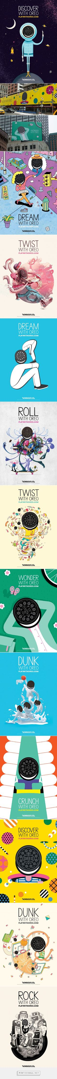 Oreo Gets 10 Artists to Produce Beautifully Dreamy Outdoor Illustrations   Adweek