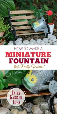 Here's how to make a fountain for a miniature fairy garden that really works. I'll show you the supplies needed and how to set it up.