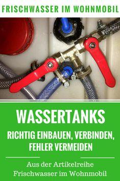 Wassertank in Camper und Wohnmobil richtig einbauen - Tipps und Tricks zum DIY