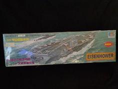Eisenhower  1/500 Static Model Ship Series NO. 02  largest electrical warship #Trumpeter