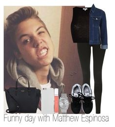 """""""Funny day with Matthew Espinosa"""" by irish26-1 ❤ liked on Polyvore featuring Topshop, River Island, New Balance, Nixon, Kate Spade, Case-Mate and shu uemura"""