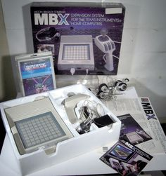Vtg 1983 MBX Expansion Game System for Texas Instruments Computer Milton Bradley GOD I wanted one of theses. Home Computer, Milton Bradley, Old Computers, History Photos, Third Party, The Expanse, Instruments, Texas, God