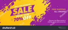 Find Special Offer Sale Discount Banner Template stock images in HD and millions of other royalty-free stock photos, illustrations and vectors in the Shutterstock collection. Social Media Banner, Banner Template, Royalty Free Stock Photos, Ads, Templates, Facebook, Cover, Image, Stencils