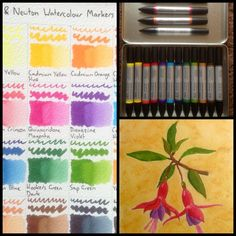 My review of Winsor & Newton Watercolour Markers! Includes a colour chart and a flower painting. https://artdragon86.wordpress.com/2016/06/24/watercolours-winsor-and-newton-watercolour-markers-review/