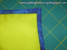 Quilting Buttercup: How to bind a quilt (hand-finished)