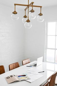 Our designer Mel Burstin turned a farmhouse into a streamlined, functional office extension for goop HQ.