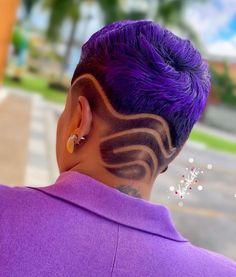 Natural Hair Short Cuts, Tapered Natural Hair, Short Hair Cuts, Natural Hair Styles, Short Pixie, Thick Hair, Short Hair Designs, Shaved Hair Designs, Low Cut Hairstyles